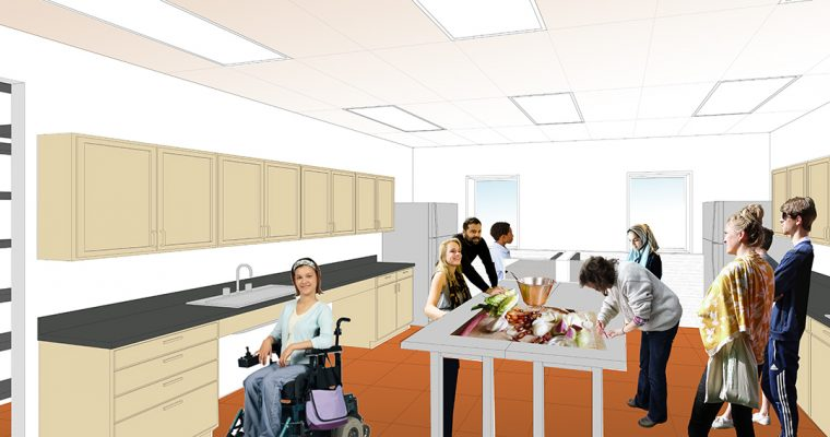 Worcester Youth Center Teaching Kitchen, Cafe, Multipurpose Room & Recording Studio – Worcester, MA